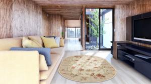 Covor Modern, Lotos 551, Crem / Bej, Oval, 80x200 cm, 1800 gr/mp1