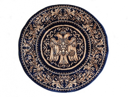Covor Lotos, Model Bisericesc, 15032, Albastru, Rotund, 150x150 cm, 1800 gr/mp1