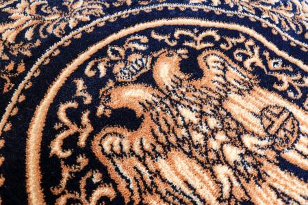 Covor Lotos, Model Bisericesc, 15032, Albastru, Rotund, 150x150 cm, 1800 gr/mp3