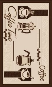 Covor pentru bucatarie, Natura Coffee Time, 100x200 cm, 1500 gr/mp0