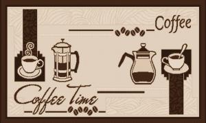 Covor pentru bucatarie, Natura Coffee Time, 100x200 cm, 1500 gr/mp1