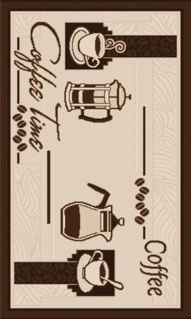 Covor pentru bucatarie, Natura Coffee Time, 140x200 cm, 1500 gr/mp0