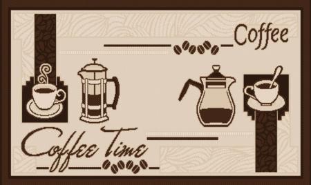 Covor pentru bucatarie, Natura Coffee Time, 140x200 cm, 1500 gr/mp1
