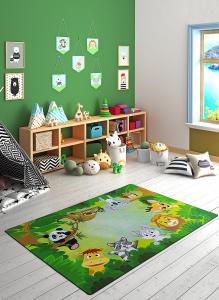 Covor Pentru Copii, Antiderapant, Habitat Green, 1275 gr/mp1