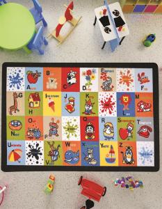 Covor Pentru Copii, Antiderapant, Letter Blocks, 200x290 cm, 1282 gr/mp1