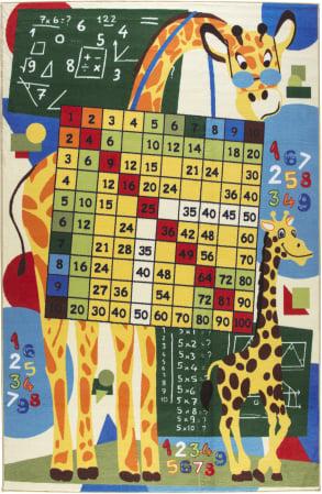 Covor Pentru Copii, Antiderapant, Math Class, Multicolor, 133x190 cm, 1632 gr/mp0