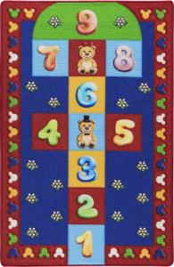 Covor Pentru Copii, Antiderapant, Sotron Hopscotch, Multicolor, 100x150 cm, 1275 gr/mp [0]