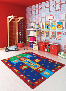 Covor Pentru Copii, Antiderapant, Sotron Hopscotch, Multicolor, 100x150 cm, 1275 gr/mp [1]