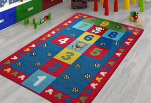 Covor Pentru Copii, Antiderapant, Sotron, Multicolor, 100x150 cm, 1282 gr/mp1