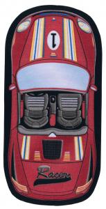 Covor Pentru Copii, Antiderapant, First Racer, Rosu, 100x200 cm, 1432 gr/mp0
