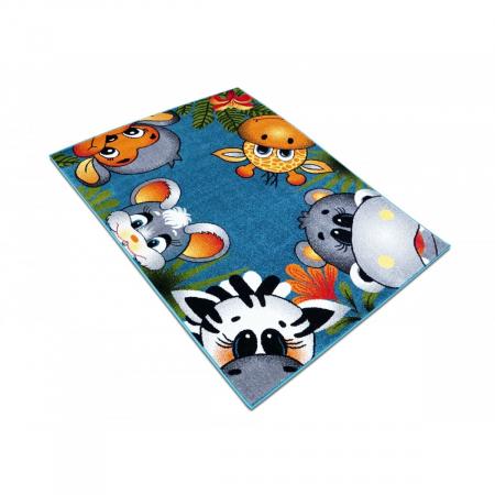 Covor Pentru Copii, Kolibri Animalute 11058, Albastru, 120x170 cm, 2300 gr/mp [3]