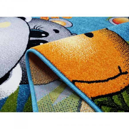 Covor Pentru Copii, Kolibri Animalute 11058, Albastru, 80x150 cm, 2300 gr/mp8