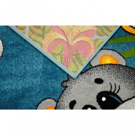 Covor Pentru Copii, Kolibri Animalute 11058, Albastru, 80x150 cm, 2300 gr/mp5