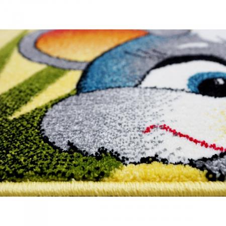 Covor Pentru Copii, Kolibri Animalute 11058, Galben, 160x230 cm, 2300 gr/mp5