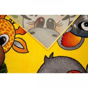 Covor Pentru Copii, Kolibri Animalute 11058, Galben, 160x230 cm, 2300 gr/mp6