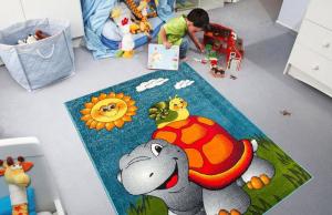 Covor Pentru Copii, Kolibri Broasca Testoasa 11111, 240x340 cm, 2300 gr/mp2