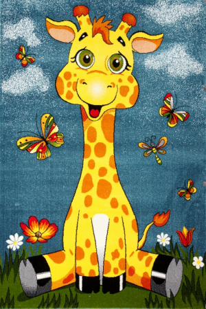 Covor Pentru Copii, Kolibri Girafa 11112, 80x150 cm, 2300 gr/mp0