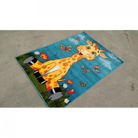 Covor Pentru Copii, Kolibri Girafa 11112, 80x150 cm, 2300 gr/mp2