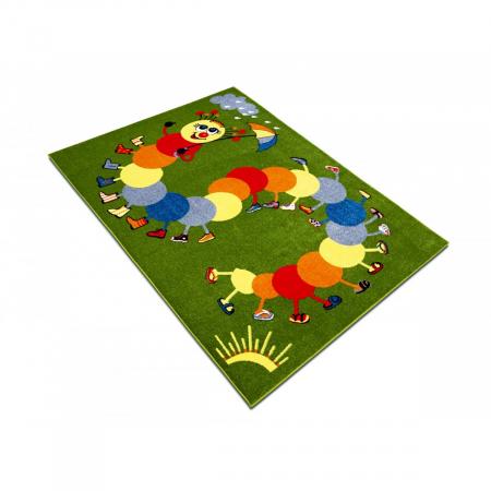 Covor Pentru Copii, Kolibri Omida 11057, Verde, 120x170 cm, 2300 gr/mp [3]