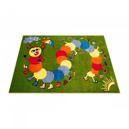 Covor Pentru Copii, Kolibri Omida 11057, Verde, 160x230 cm, 2300 gr/mp2
