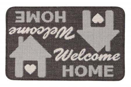 Covor Pentru Usa Intrare, Flex 19504-91, Antiderapant, Maro, 50x80 cm0