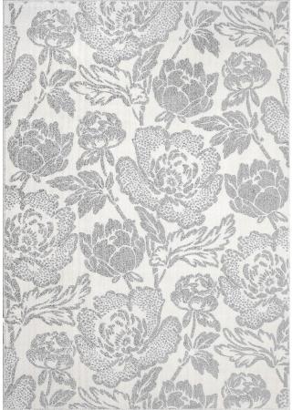 Covor Modern, Sofia Floral, Alb/Gri, Diverse Dimensiuni, 2450 gr/mp [0]