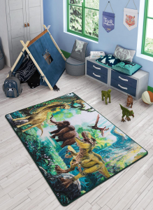 Covor Pentru Copii, Antiderapant, Dinosaur World, 1275 gr/mp [1]