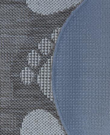 Covor Pentru Usa Intrare, Flex 19614-111, Antiderapant, Maro/Bej, Oval, 50x80 cm [1]