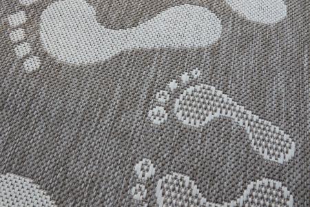 Covor Pentru Usa Intrare, Flex 19613-111, Antiderapant, Maro/Bej, 50x80 cm [2]