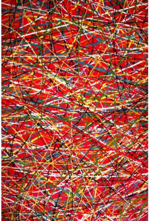 Covor Modern, Kolibri Art, Rosu, 80x150 cm, 2300 gr/mp0
