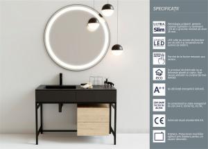 Oglinda cu Iluminare, Round, 800x800x4 mm1