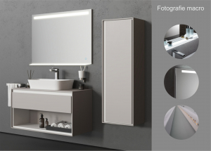 Oglinda cu Iluminare si Polita Iluminata, GenesIs, 800x1000x4 mm [3]