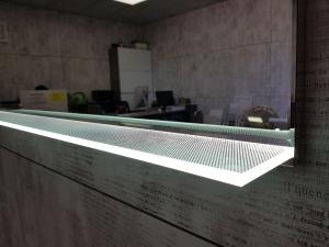 Oglinda cu Iluminare si Polita Iluminata, GenesIs, 800x800x4 mm [8]