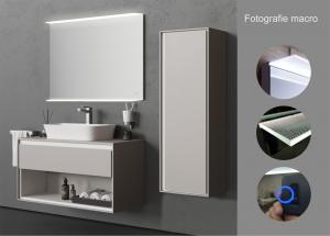 Oglinda cu Iluminare si Polita Iluminata, Spectra Plus, 800x600x4 mm3