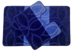 Set 2 covorase baie Erdek D. Blue, 60x100 cm, 50x60 cm0