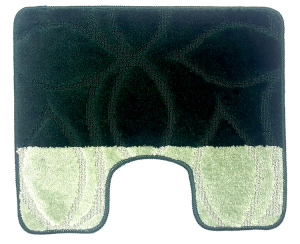 Set 2 covorase baie Erdek Hunter Green, 60x100 cm, 50x60 cm2