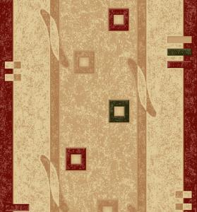 Traversa Covor, Lotos 579, Crem / Rosu, 100x400 cm, 1800 gr/mp [2]