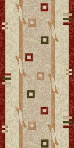 Traversa Covor, Lotos 579, Crem / Rosu, 100x400 cm, 1800 gr/mp [0]