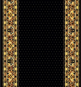 Traversa Covor, Lotos 588, Negru, 60x800 cm, 1800 gr/mp0