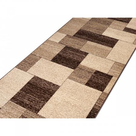 Traversa Covor, Daffi 13027-140, Bej/Maro, 60x300 cm, 1700 gr/mp3