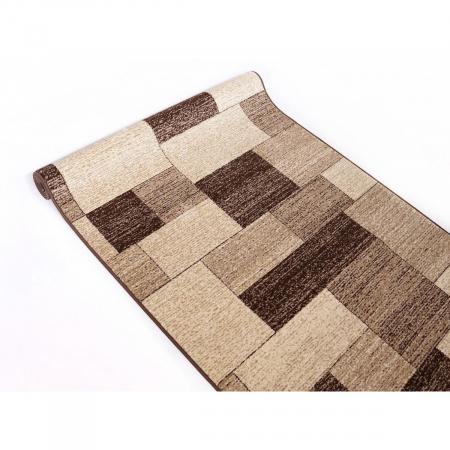 Traversa Covor, Daffi 13027-140, Bej/Maro, 60x700 cm, 1700 gr/mp4