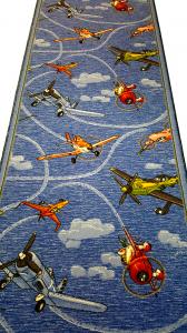 Traversa pentru Copii, Avioane, Albastru, 100x300 cm, 820 gr/mp1