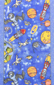 Traversa pentru Copii, Cosmos 1126, Albastru, 100x300 cm, 820 gr/mp1