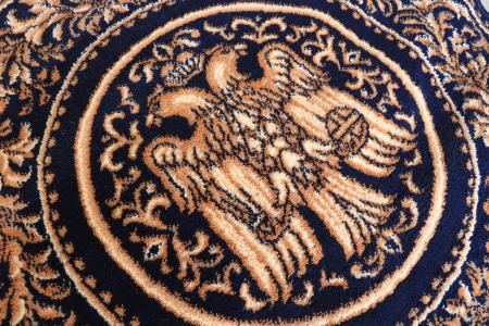 Covor Lotos, Model Bisericesc, 15032, Albastru, Rotund, 100x100 cm, 1800 gr/mp2
