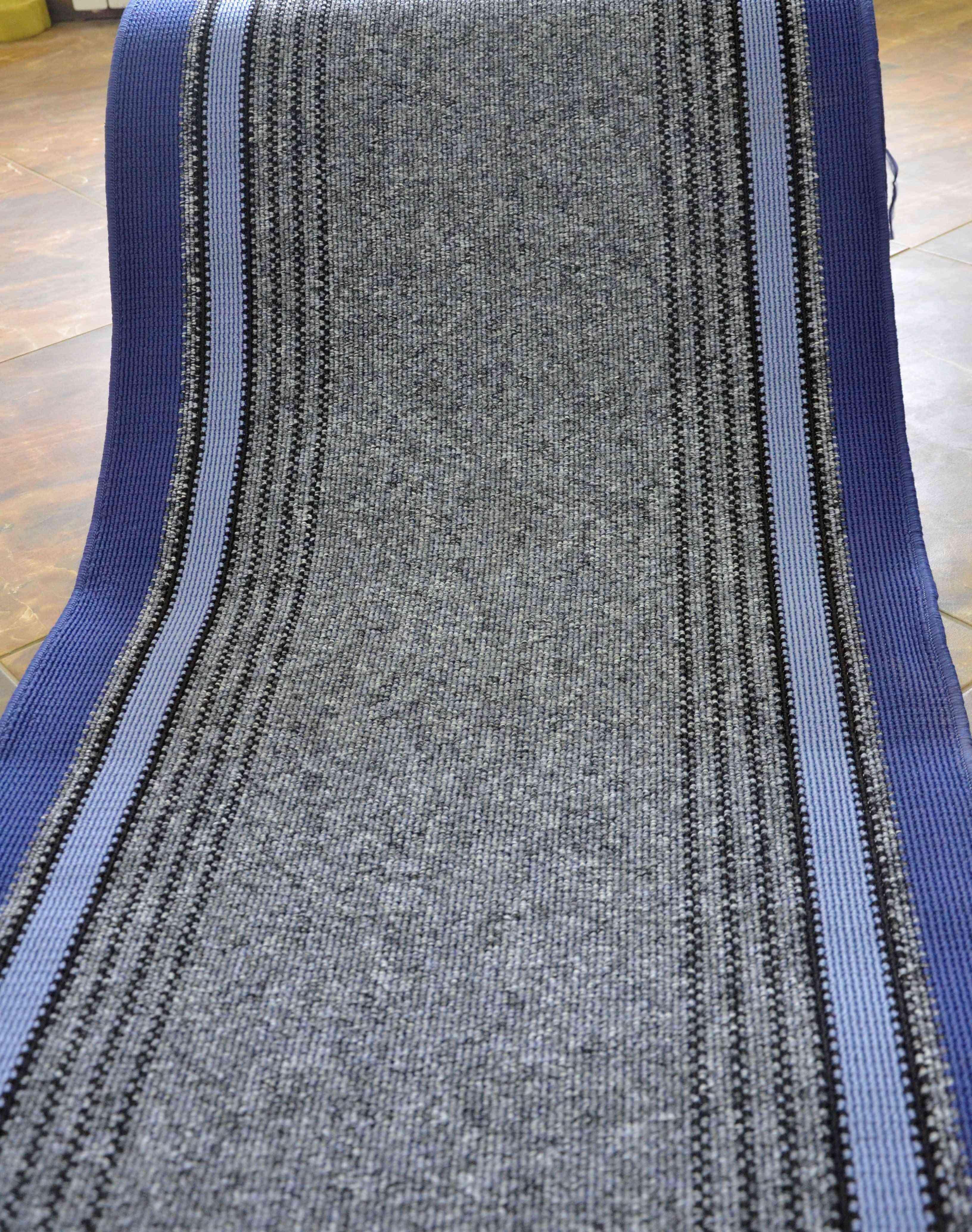 Traversa Covor, Saba 08, Albastru, 100x400 cm, 1350 gr/mp, 1x4 m 4