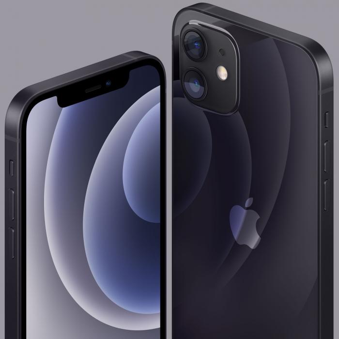 Telefon mobil Apple iPhone 12 Black Negru,128GB, Dual eSim, Super retina XDR [6]
