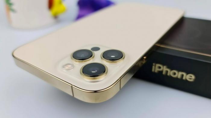 Telefon mobil Apple iPhone 12 Pro Gold Auriu 128GB + Folie Sticla Cadou [3]