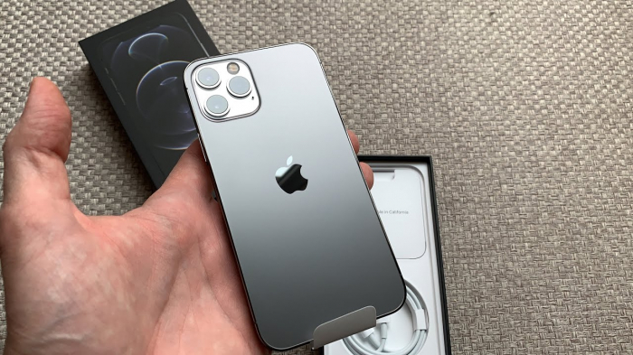 Telefon mobil Apple iPhone 12 Pro Graphite - Grafit 128GB + Folie Sticla Cadou [4]