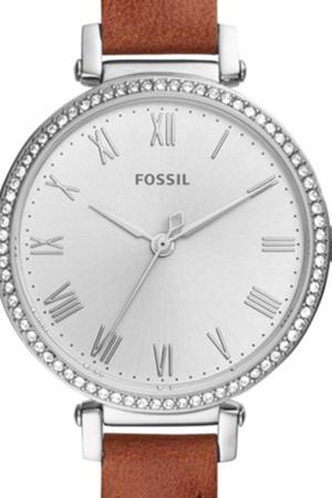 Ceas de dama Fossil cu o curea de piele si cristale Kinsey, Maro scortisoara [1]