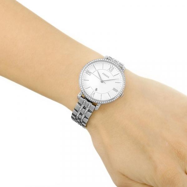 Ceas de dama Fossil Jacqueline cu cristale speciale,Argintiu ES3545 [3]